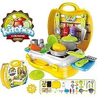 Popsugar Little Chef's Kitchen Set with Accessories for Kids,
