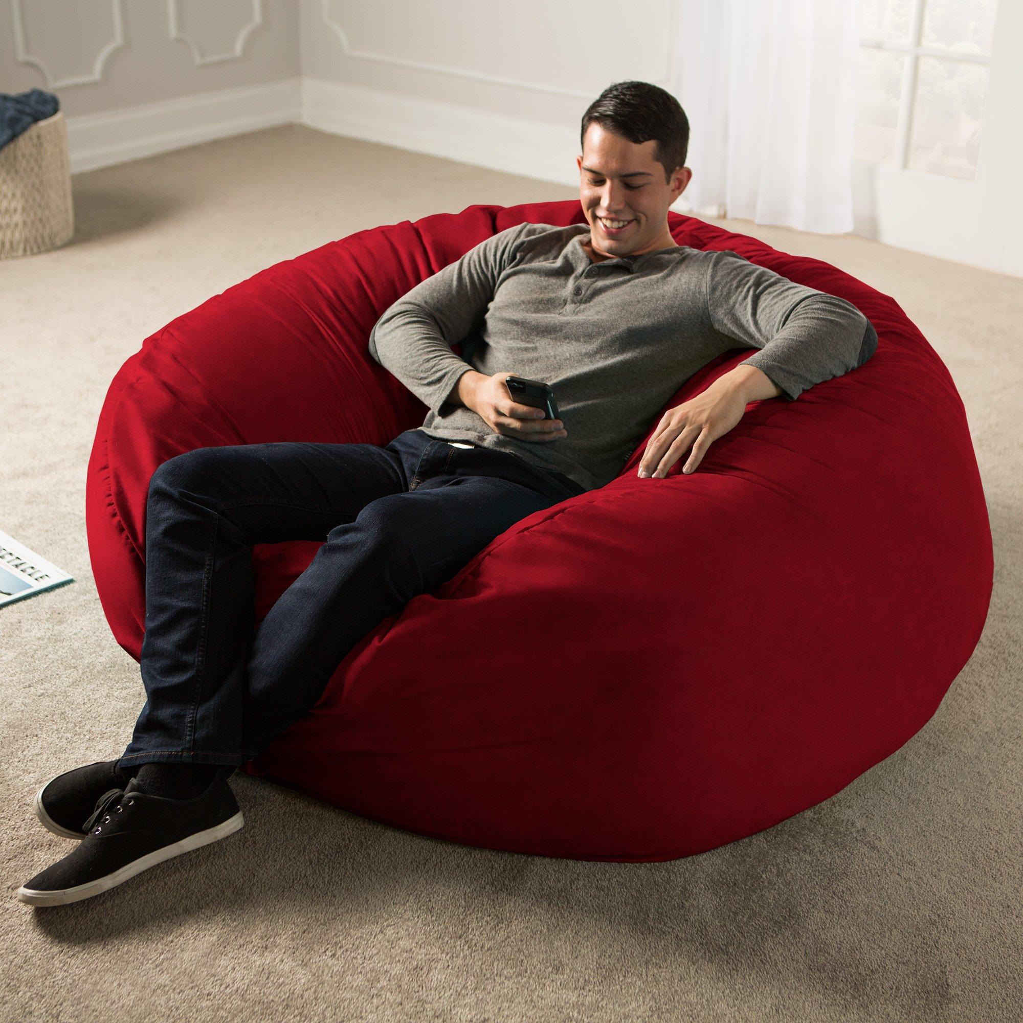 Jaxx 5 Foot Saxx - Big Bean Bag Chair for Adults, Cinnabar by Jaxx