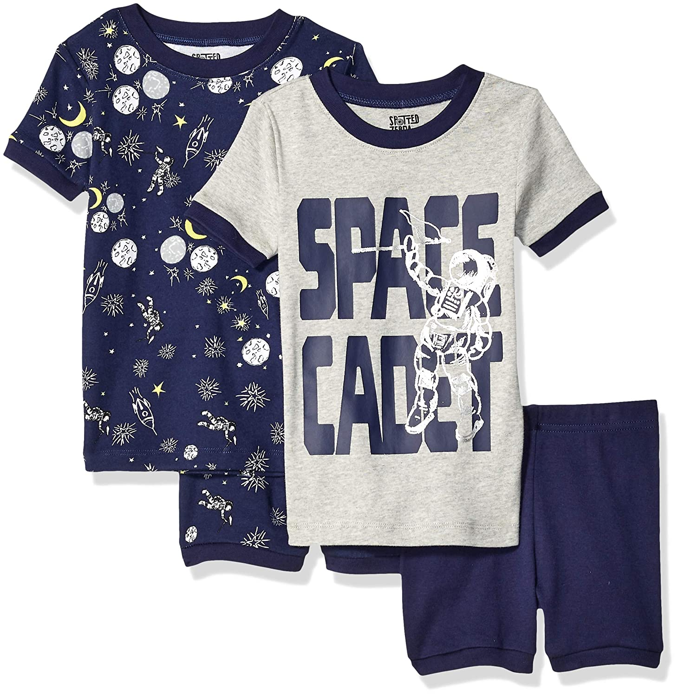 Pacco da 4 Spotted Zebra 4-Piece Snug-Fit Cotton Pajama Short Set Bambino Marchio
