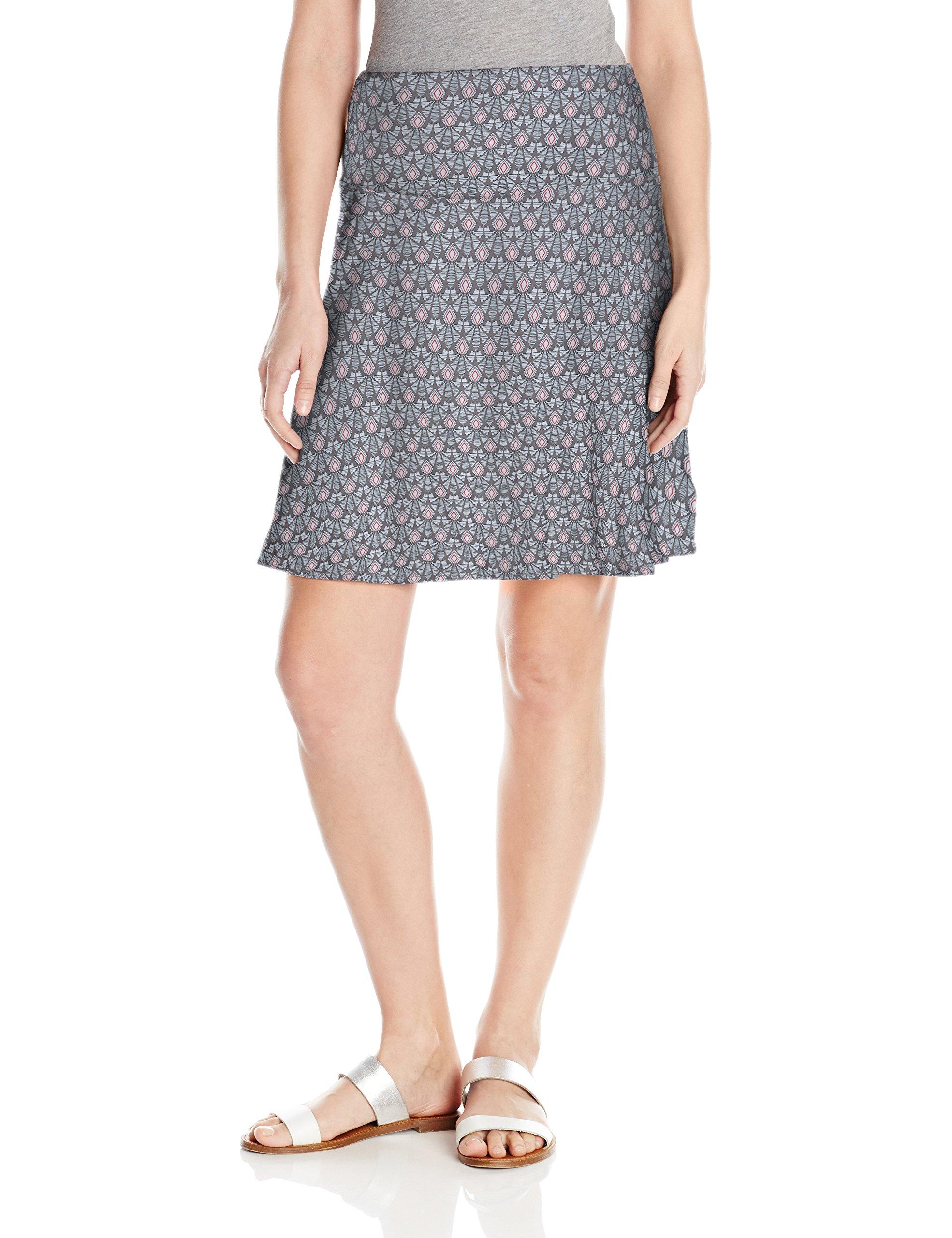 prAna Women's Taj Printed Skirt, Moon Rock Botanical, Large