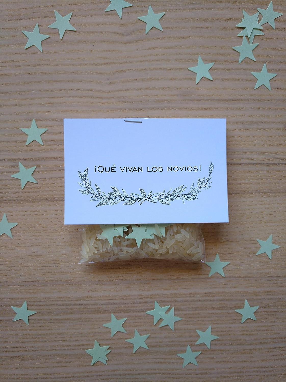Bolsas de arroz y confeti modelo estrellas para bodas (Pack ...