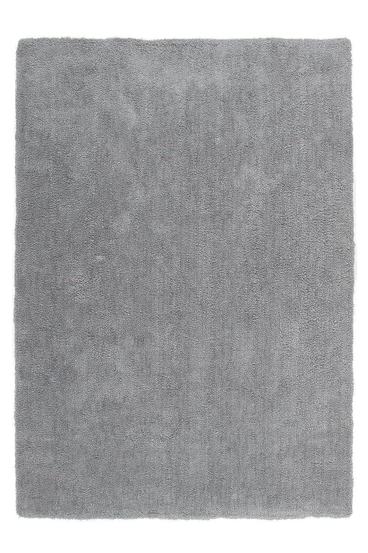 Lalee  347160525  Hochwertiger Teppich   Shaggy Art   Weich   Silber   Grösse   120 x 170 cm
