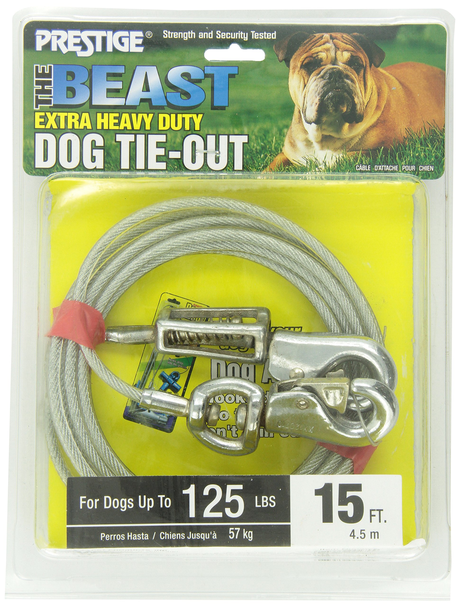 Boss Pet - Prestige 15ft Beast Dog Tie Out with Spring by Boss Pet Products (Image #2)