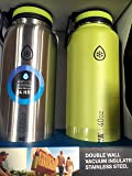 Takeya Stainless Steel Double Wall Insulated Water Bottle Twin Pack Teal / Silver - 40 Oz