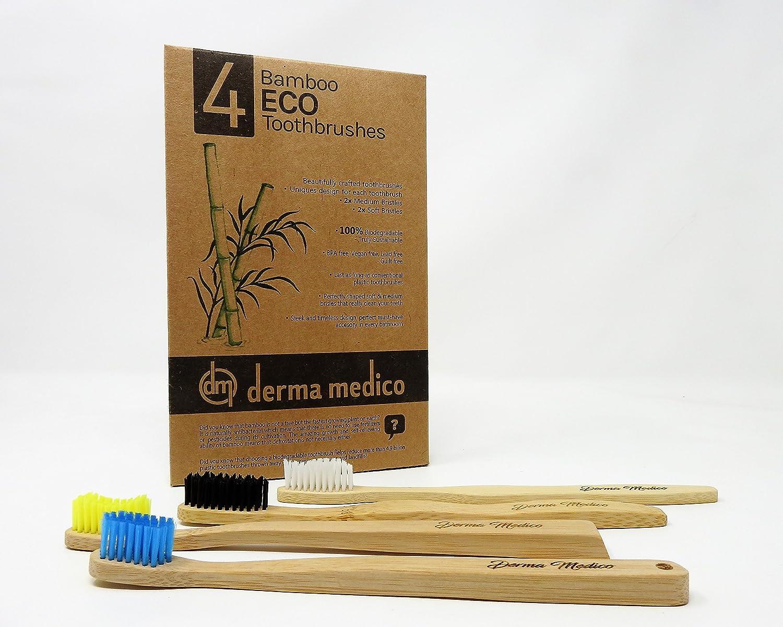Bambú Eco - Cepillo de dientes, 4 DIFFRENT formas: Amazon.es: Salud y cuidado personal