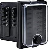 auxiliary automotive fuse box holder add 6 fused