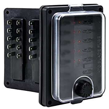 91MDyoYP4IL._SY355_ amazon com ols waterproof blade fuse box [ip56] [led indicator old fuse box diagram at gsmx.co