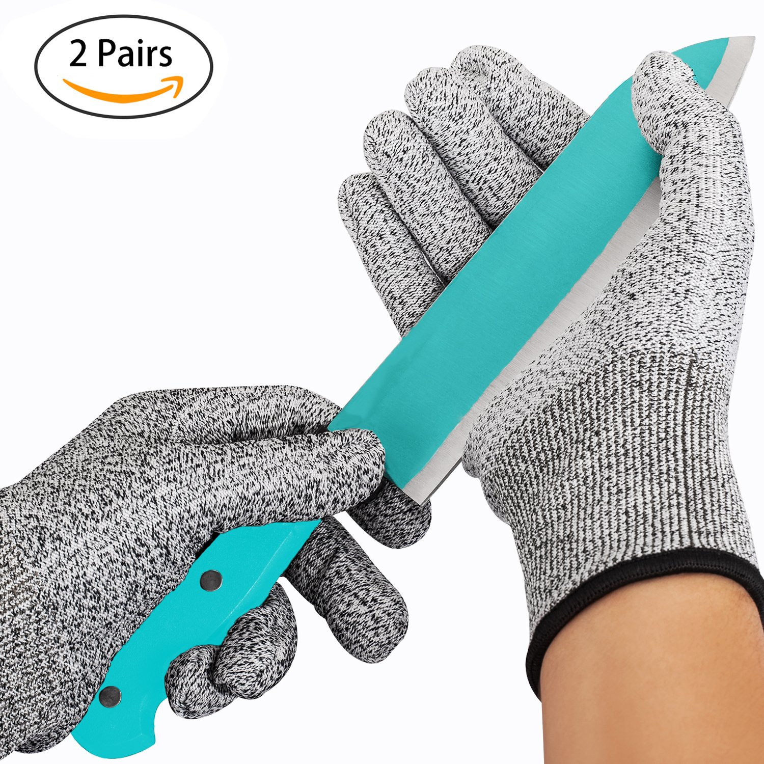 Amazon.com: Cut Resistant Gloves, TFboys Pack of 2 Gloves-Level 5 ...
