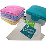 Cheeky Wipes Hands & Faces Cloth Washable Baby Wipes Kit