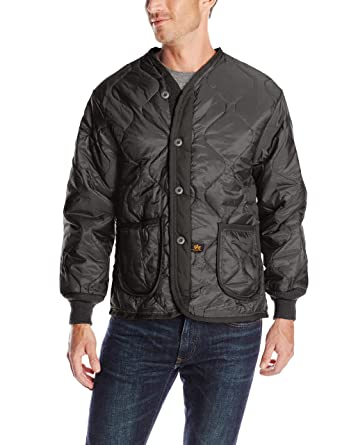e9042112abcc Alpha Industries Men s Als 92 Mid Length Zip Liner Jacket with Pockets at  Amazon Men s Clothing store  Military Coats And Jackets