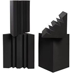 Sound Addicted - Corner Bass Traps (4 Pack) 12'' x 7'' x 7'' inches, Sound Dampening Acoustic Foam for Home Recording Studio, Theater or Home Cinema | BabuTrap