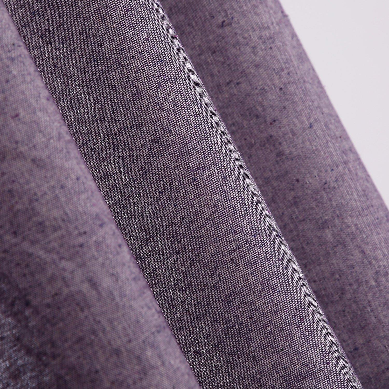Deconovo Cortinas de Dormitorio o Sala de Estar de Algodón con Ojales 2 Piezas 140 x 245 cm Violeta: Amazon.es: Hogar