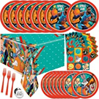 Space Jam Party Supplies Set - Space Jam 2 Party Supplies Looney Tunes, Serves 16 Guests, With Table Cover, Plates…