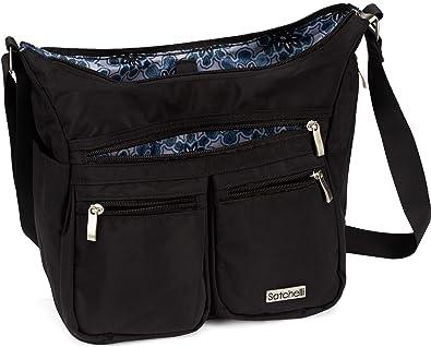 fe0d1b7c1 Satchelli Crossbody Bag with RFID Blocking Anti Theft Wristlet, Black Cross  Body Travel Purse for