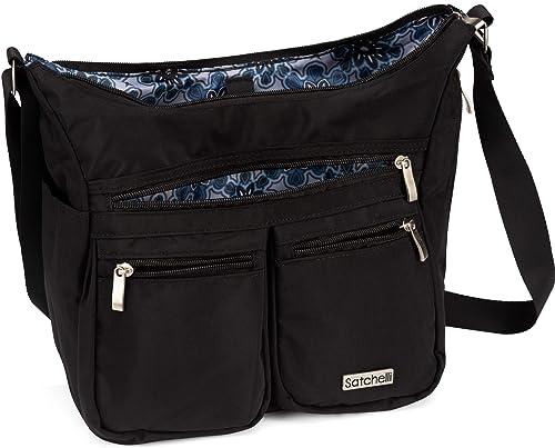 8d2d8c5a736e Satchelli Crossbody Bag with RFID Blocking Anti Theft Wristlet, Crossbody  Travel Purse for Women