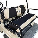 10L0L Golf Cart Rear Flip Back Seat Cover for EZGO, Club Car, Yamaha, Winter Warmer Air Mesh Nonslip Pad