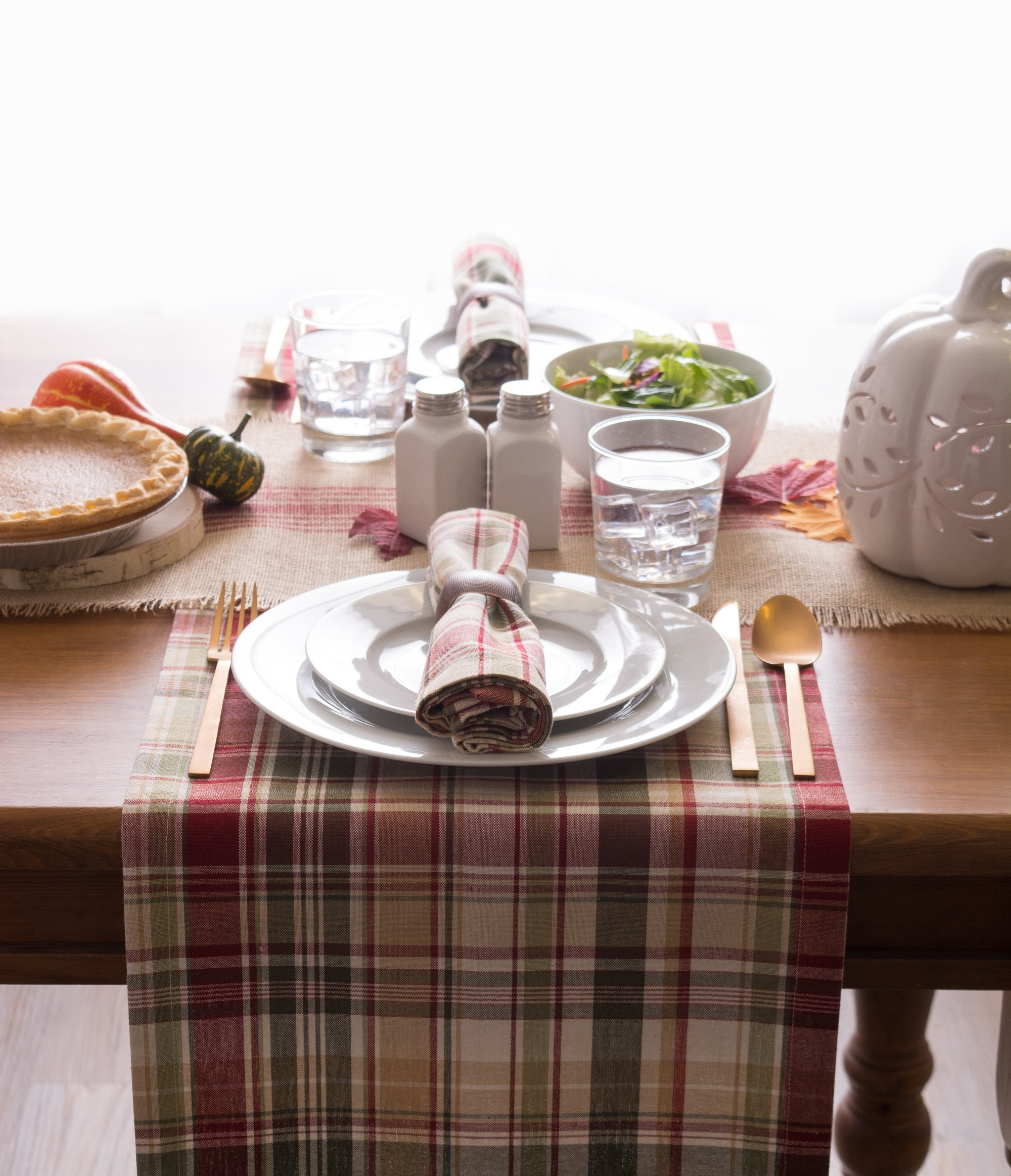 Cabin Plaid 100% Cotton Table Runner (14x108'') by DII (Image #5)