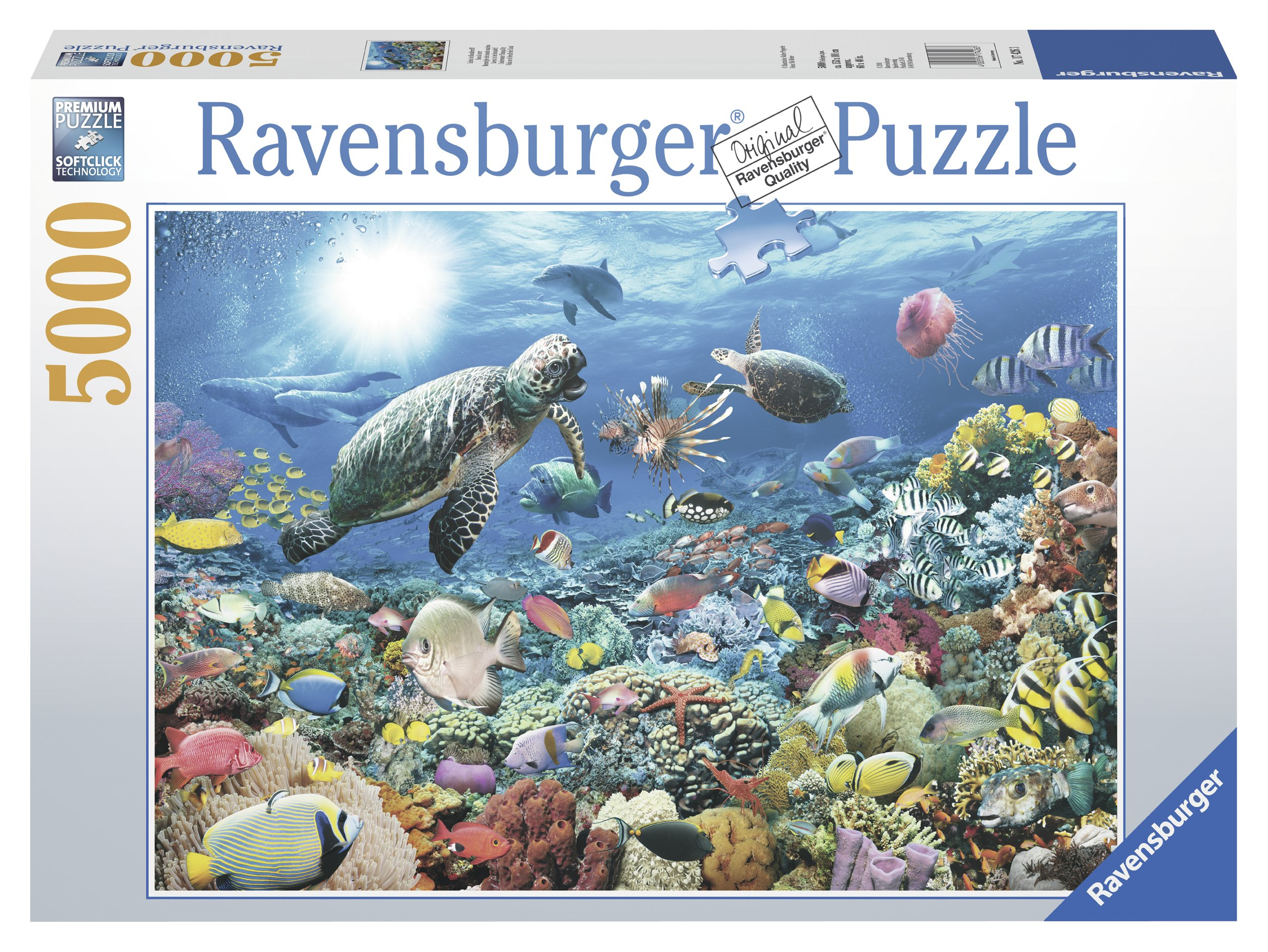 Ravensburger Beneath The Sea 5000 Piece Jigsaw Puzzle for Adults - Softclick Technology Means Pieces Fit Together Perfectly by Ravensburger