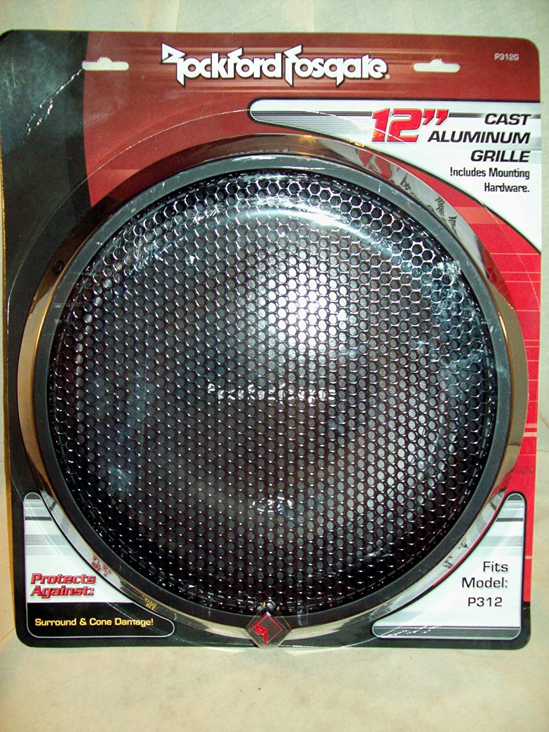 """ROCKFORD FOSGATE P2P3G-12 12/"""" GRILLE FOR PUNCH P2 /& P3 SUBWOOFERS **NEW**"""