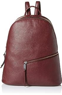 156d59124ef Calvin Klein Dali Pebble Leather Diagonal Front Zip Backpack