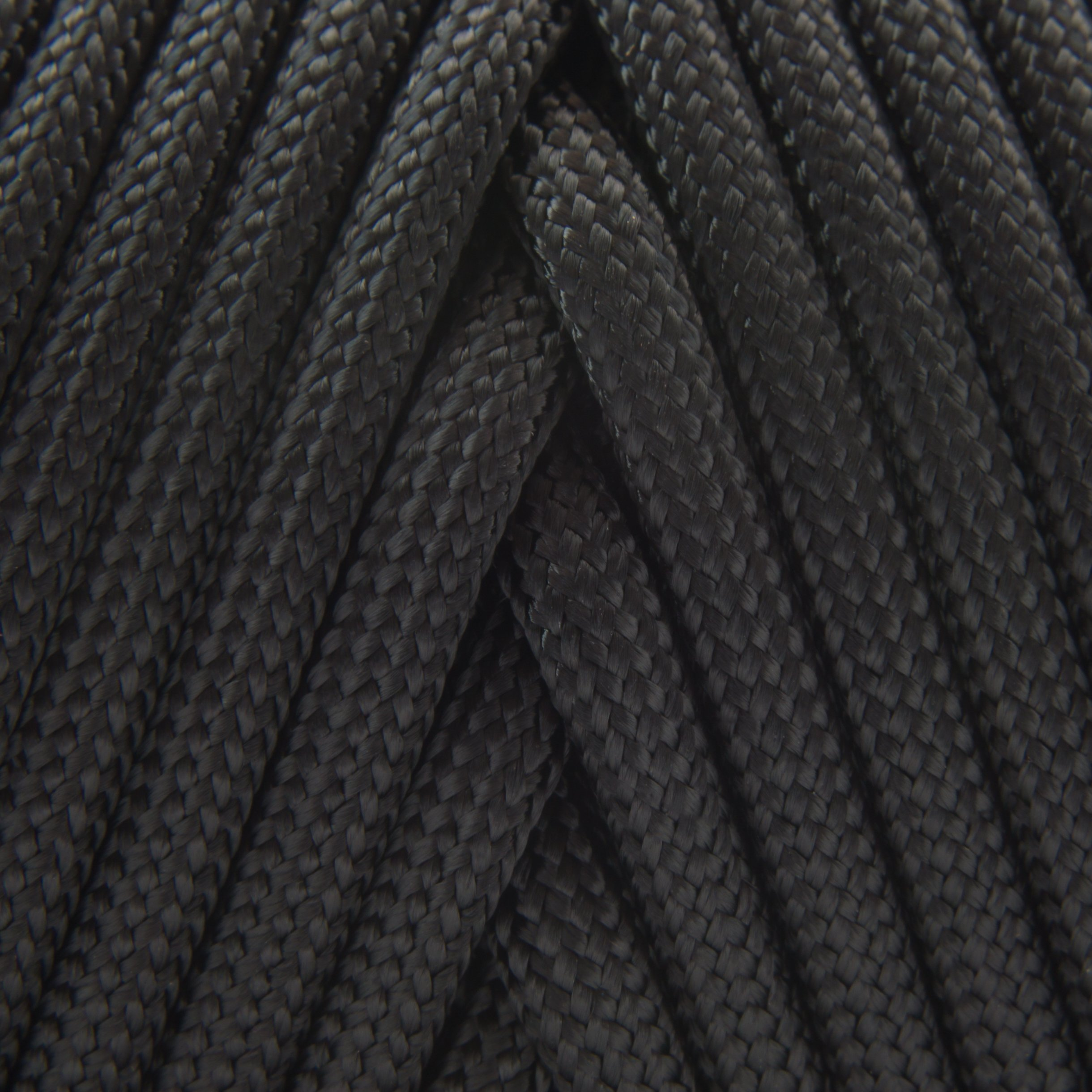 TOUGH-GRID 550lb Black Paracord/Parachute Cord - 100% Nylon Genuine Mil-Spec Type III Paracord Used by The US Military - Great for Bracelets and Lanyards - Made in The USA. 50Ft. - Black by TOUGH-GRID (Image #3)