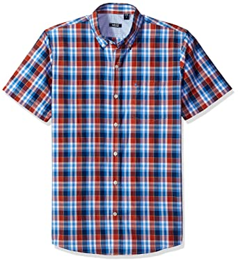 IZOD Long Sleeve Small Plaid Breeze Shirt
