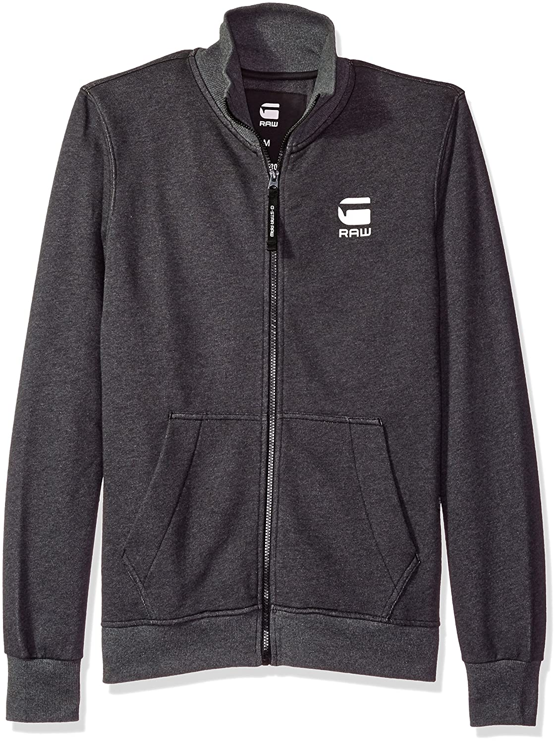 G-Star Raw Men's Strijsk Stand Collar Full Zip Sweatshirt Black G-Star Raw Men' s Collection D03133-8165