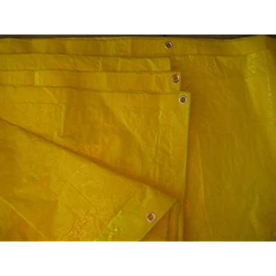 High Visibility Yellow Tarp 3.3 OZ., 6'x20'