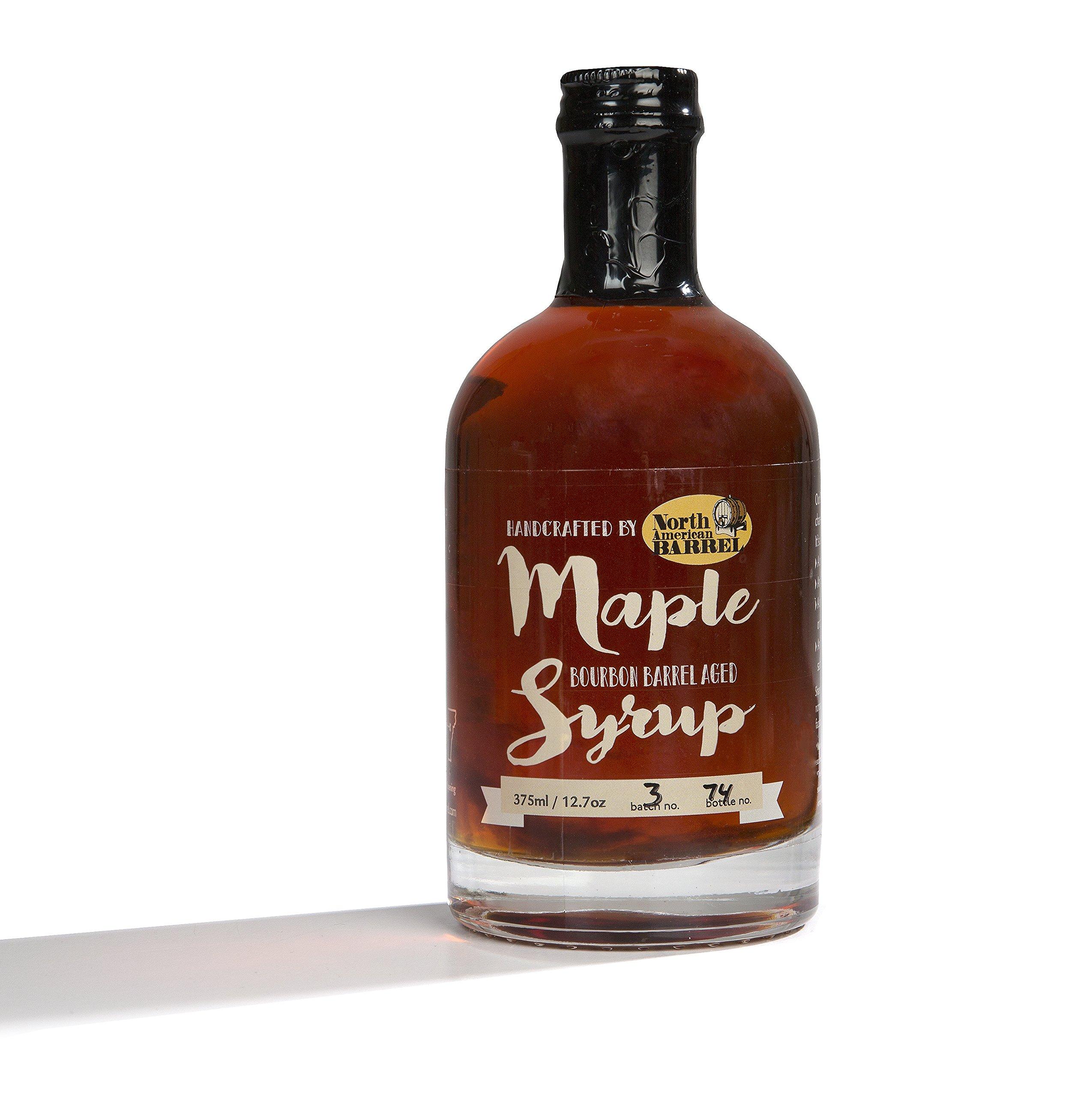 North American Barrel Bourbon Barrel Aged Maple Syrup, 12.7 oz
