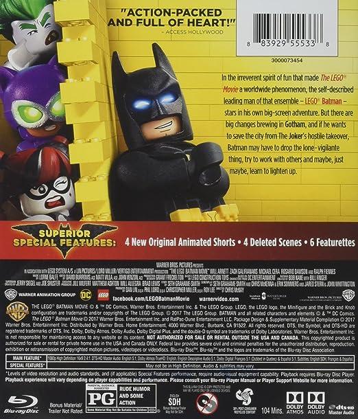 Amazon.com: Lego Batman Movie, The (2017) BD [Blu-ray]: Matthew ...