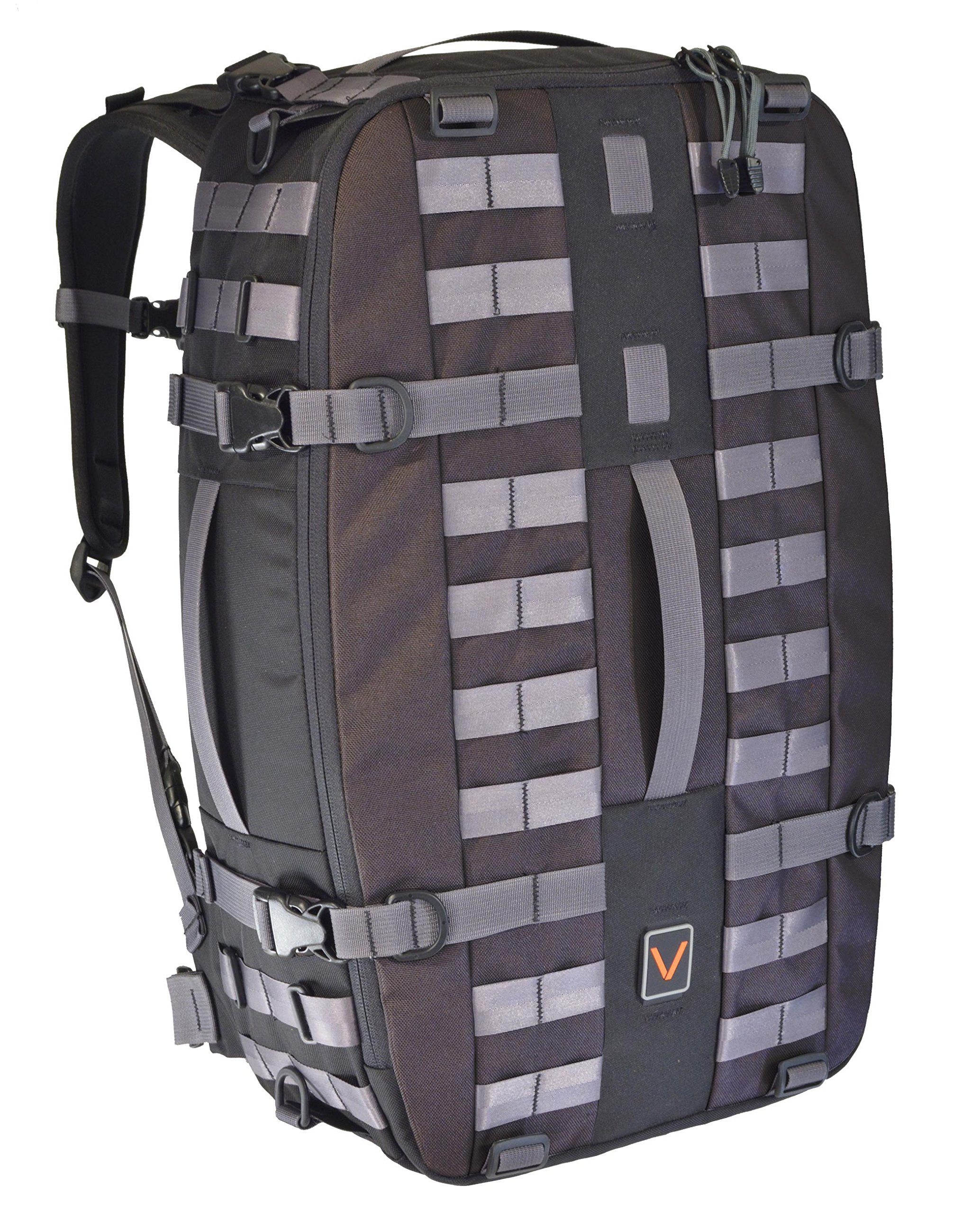 Vital Gear 2017CAVU35MLBLK Modular Travel Get Home Backpack, Men's Large, Black by VITAL GEAR