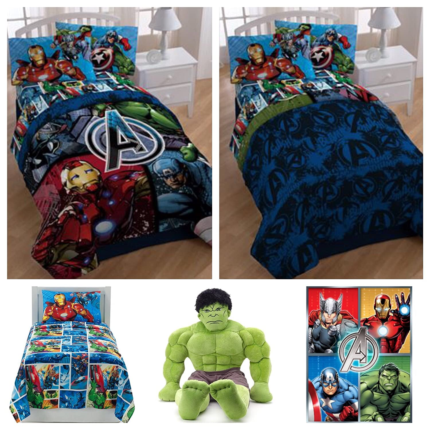 Amazon Com Marvel Avengers Complete 7 Piece Bed In A Bag Full