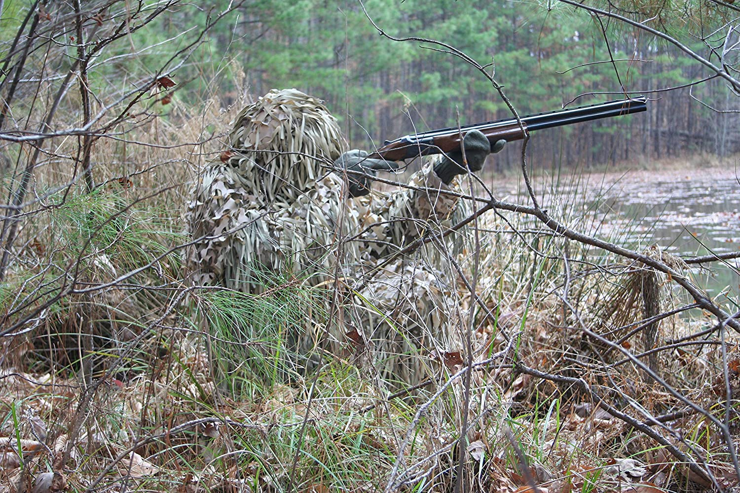 Ghillie Short Hooded Jacket with Trousers CamoSystems Jackal Sniper Suits