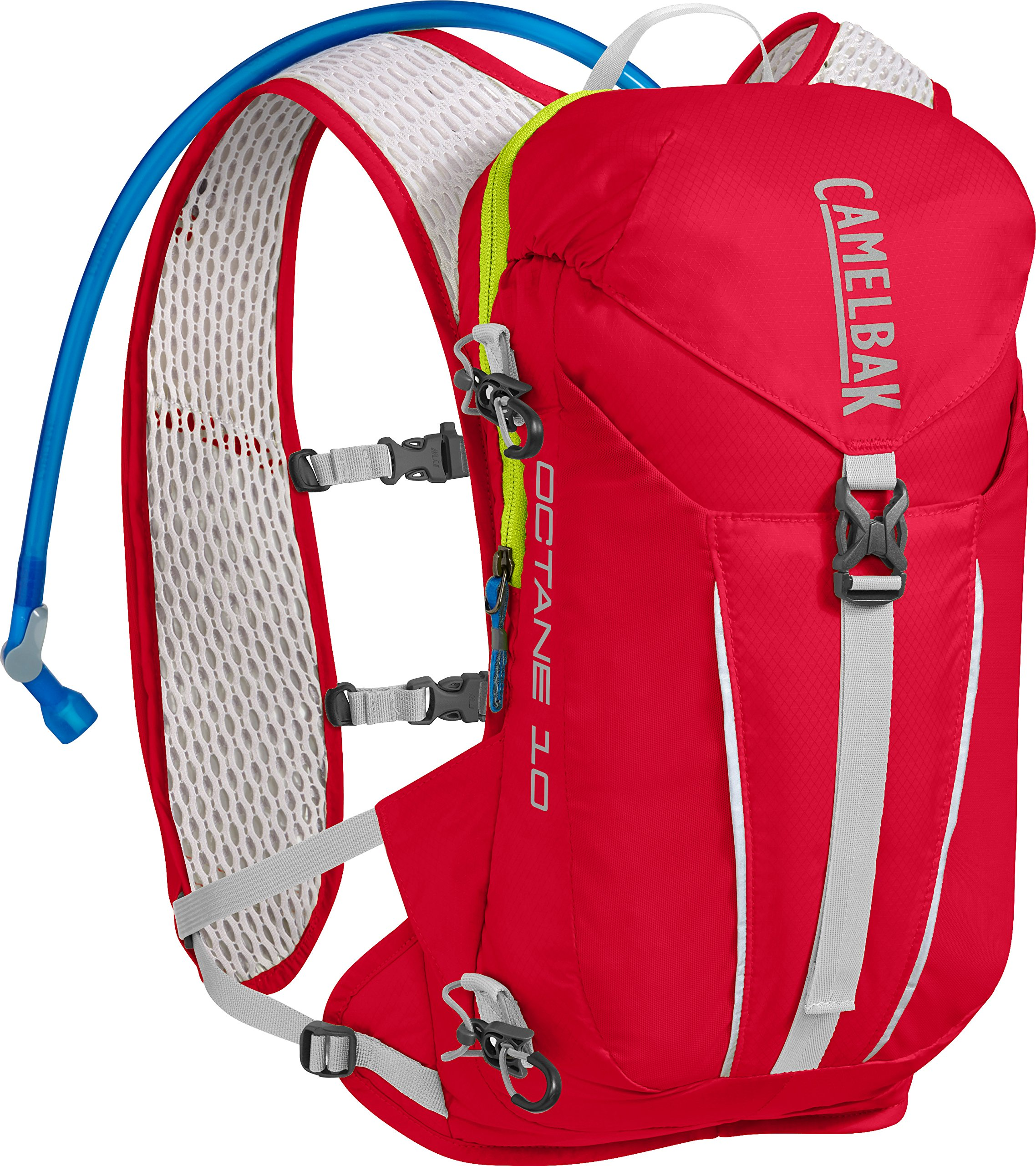 CamelBak Octane 10 70 oz Hydration Pack, Crimson Red/Lime Punch