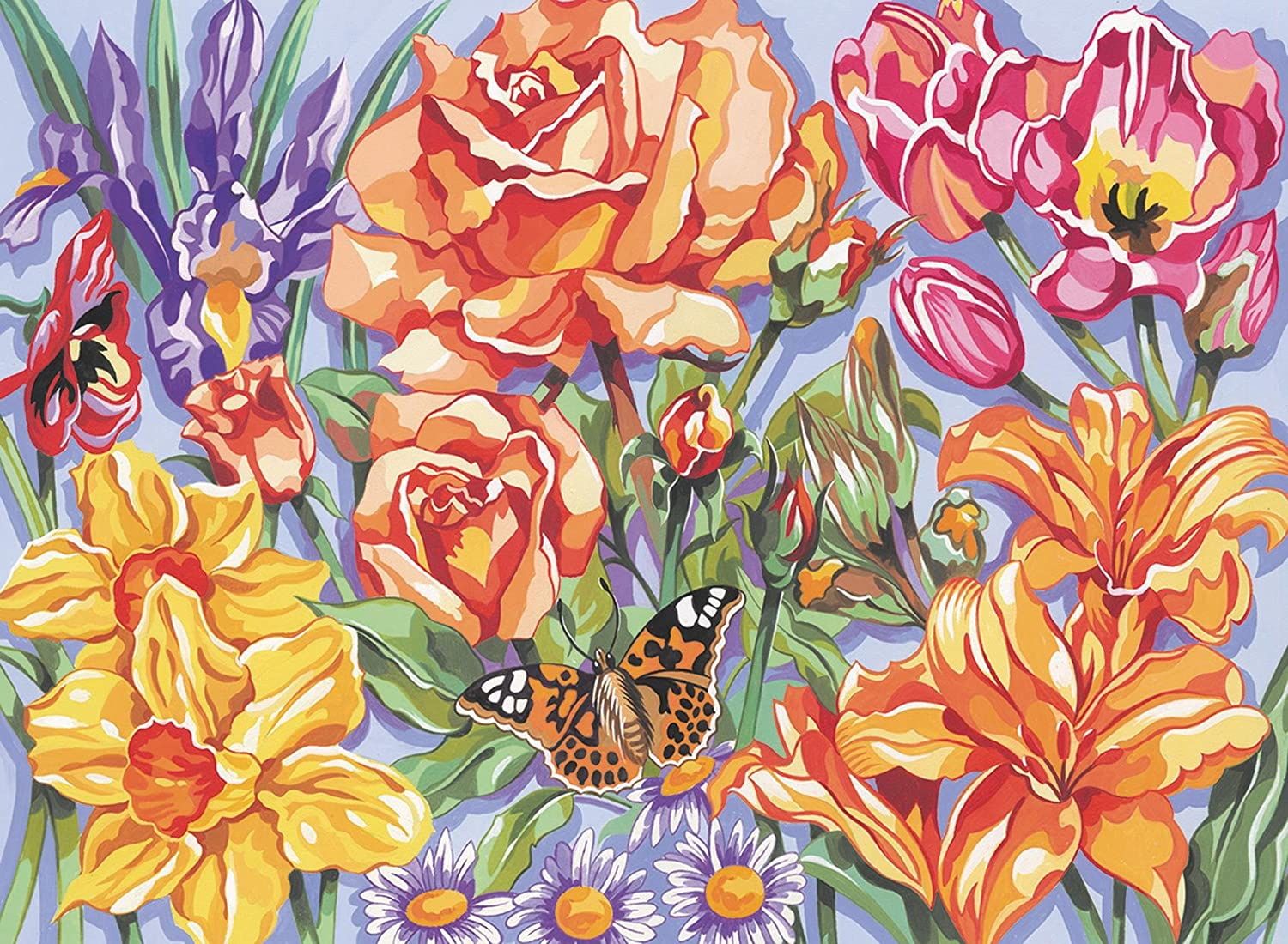 amazon com reeves large acrylic painting by numbers floral