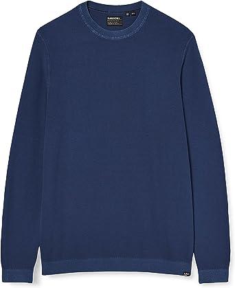 Superdry Garment Dyed Textured Crew Camisa Manga Larga para Hombre