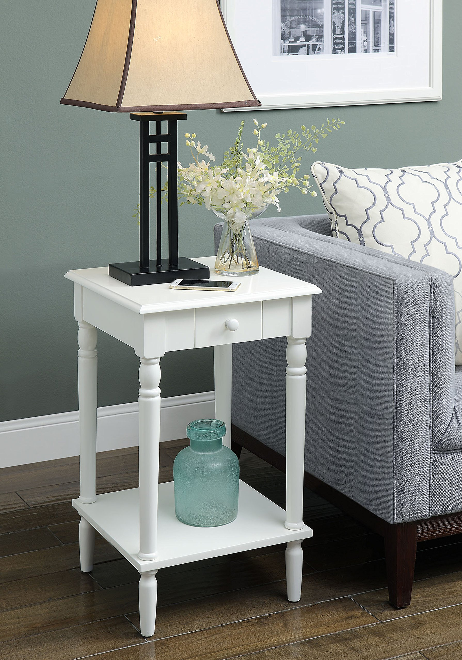 Convenience Concepts French Country End Table, White
