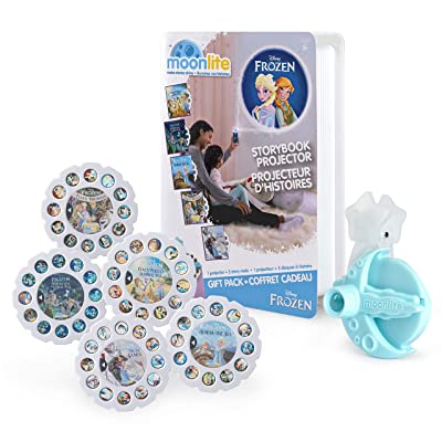 Moonlite, Frozen Gift Pack with Storybook Projector For Smartphones & 5 Story Reels: Toys & Games