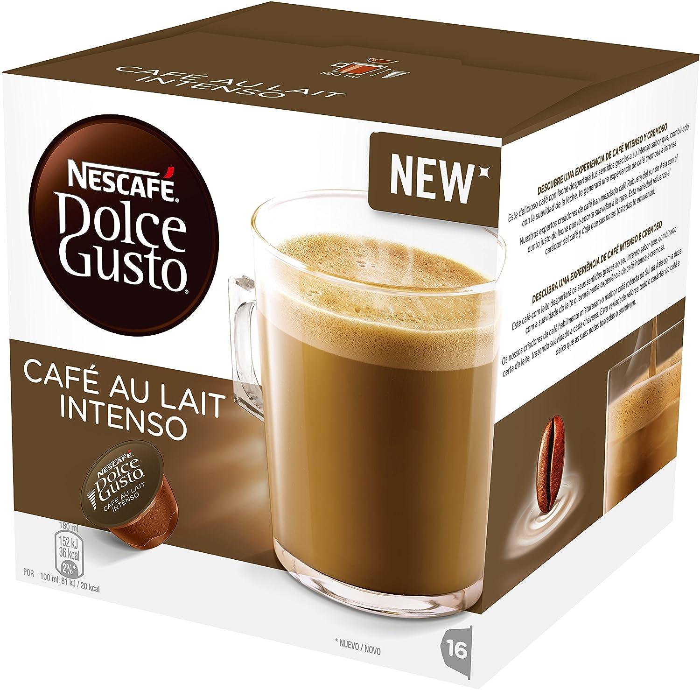 CAFE CON LECHE INTENSO NESCAFE DOLCE GUSTO -5x16 capsulas- 80 Cápsulas de Café con leche intenso: Amazon.es: Alimentación y bebidas