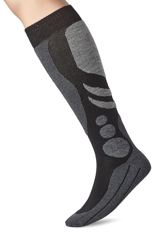 Camano Chaussettes de Ski Unisexe Noir