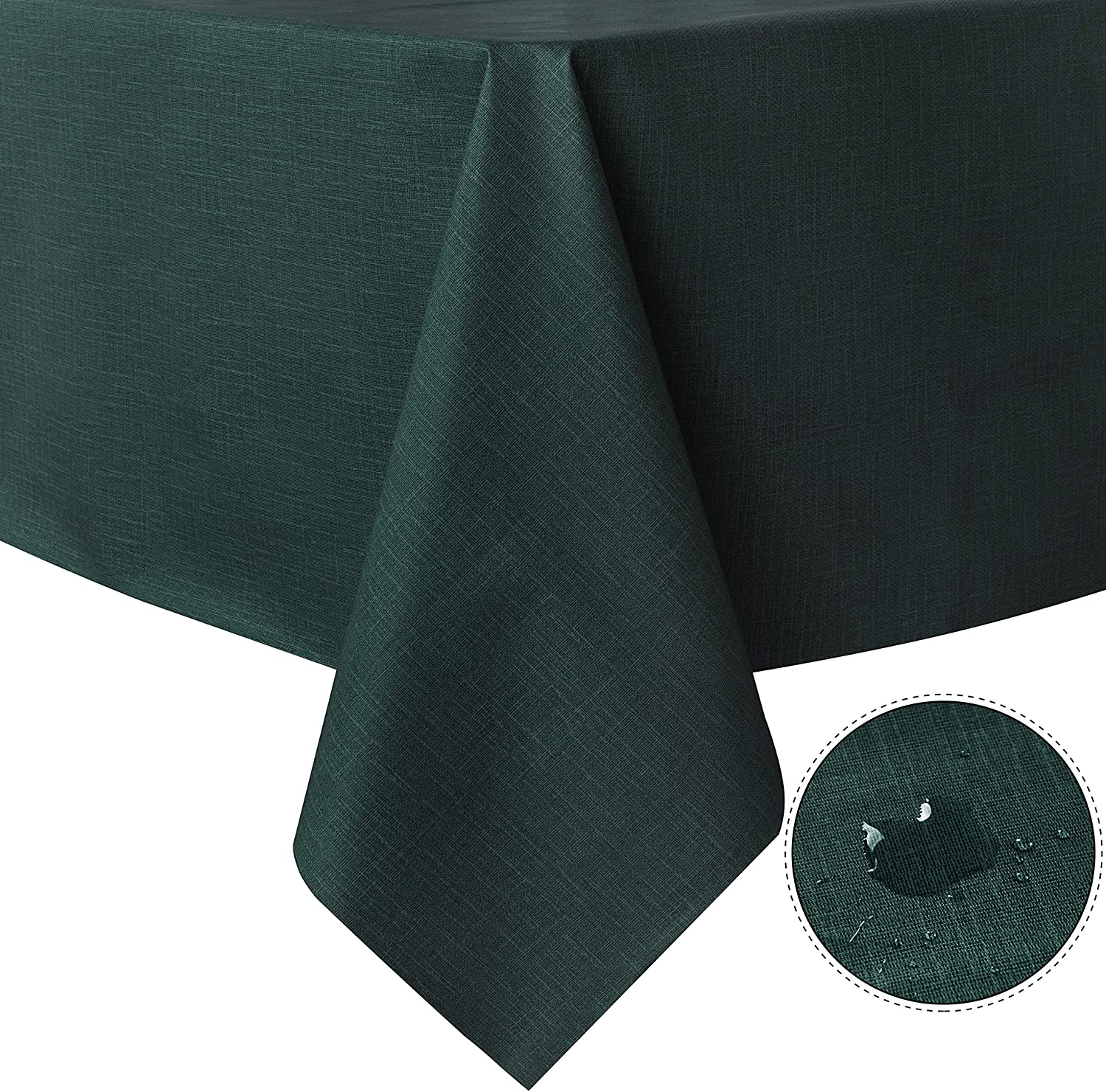 sancua 100/% Waterproof Rectangle PVC Tablecloth Buffet Parties and Camping Wipe Clean Table Cover for Table 52 x 70 inch Black Oil-Proof and Spill-Proof Vinyl Table Cloth