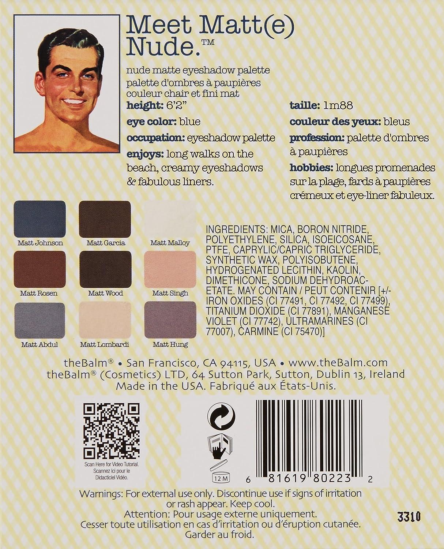 theBalm – Meet Matt e Nude Eyeshadow Palette
