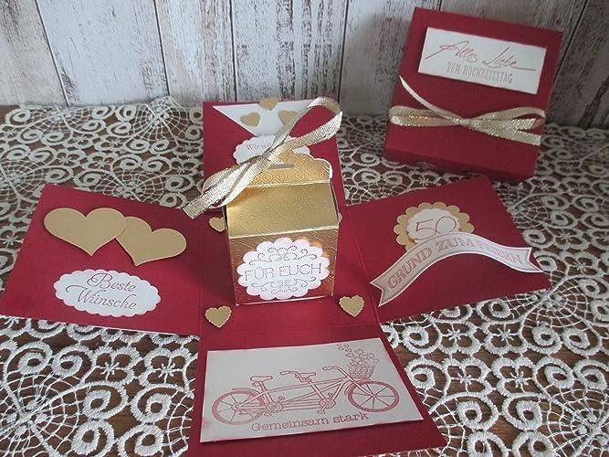 Explosionsbox Zur Goldenen Hochzeit Amazonde Handmade