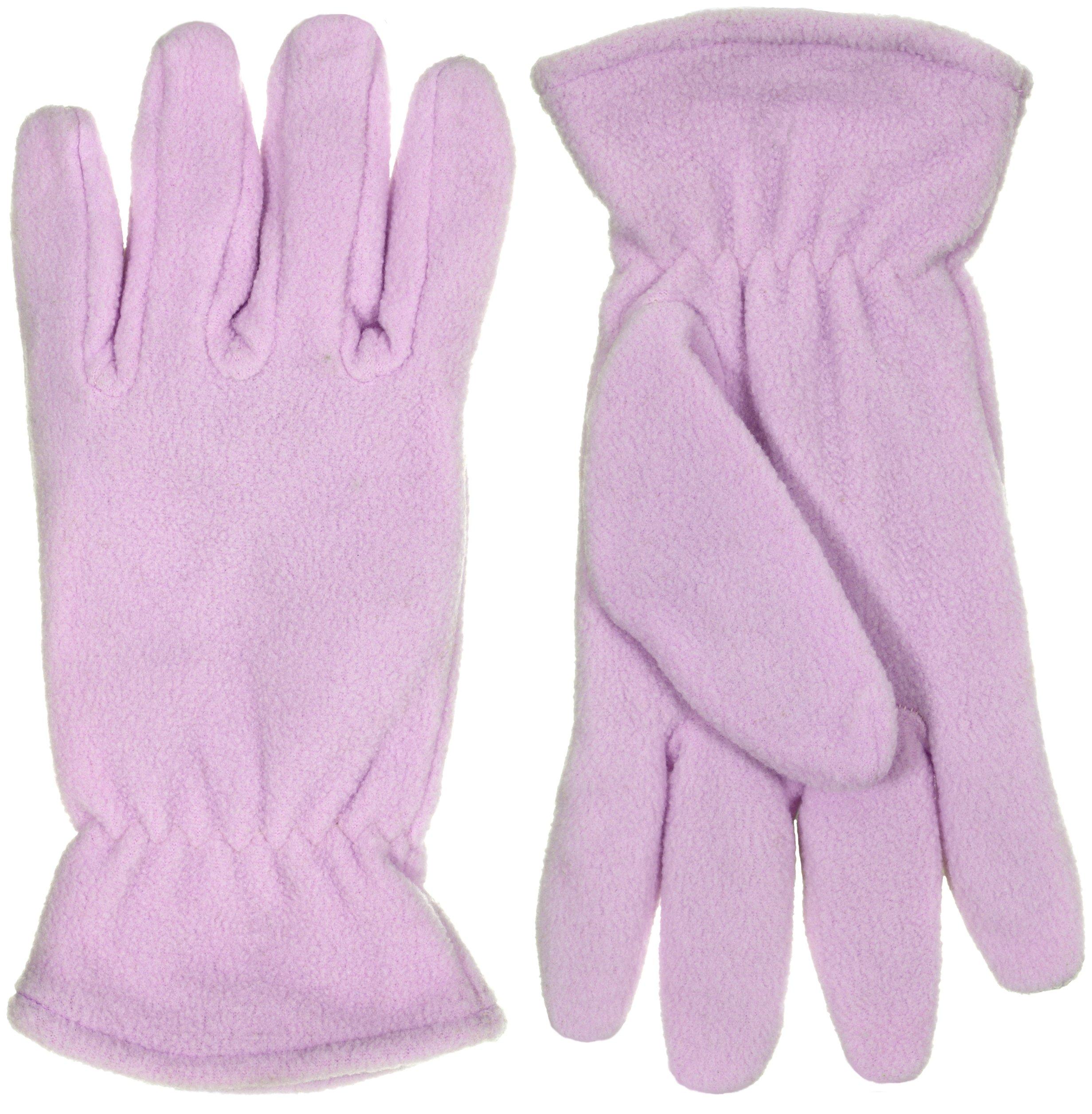 Women's Soft Fleece Cold Weather Gloves (Large, Lavender)