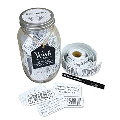 Top Shelf Retirement Wish Jar, Clear