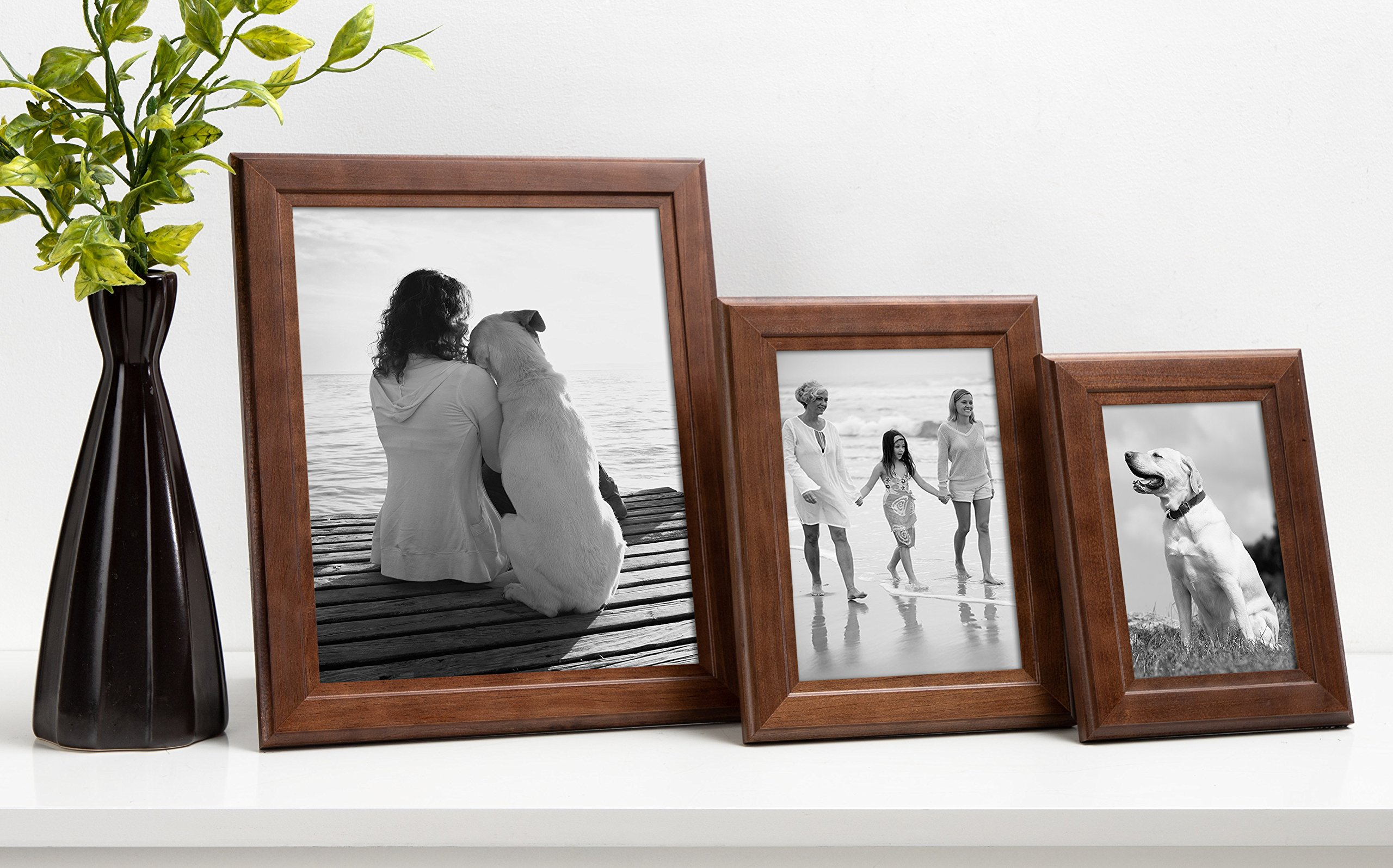 DesignOvation Kieva Solid Wood Picture Frames, Espresso Brown 8x10, Pack of 6 by DesignOvation (Image #6)