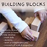 ECR4Kids Hardwood Architectural Unit Block Play Set with Canvas Carry Case - Educational Wood Building Block Kit, Natural Finish