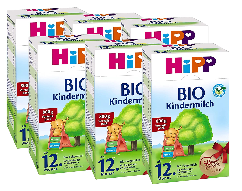 Hipp Bio Kindermilch - ab dem 12. Monat - 6er Pack (6 x 800g)