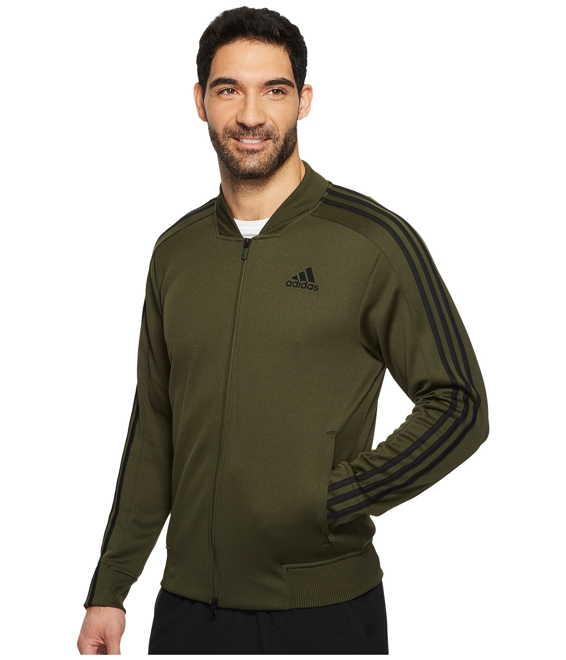 adidas Men's Sport ID Track Bomber Jacket Night Cargo Small by adidas (Image #3)