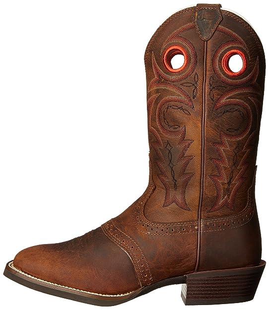 b0b27e46ebf Justin Men's Whiskey Buffalo Silver Collection Cowboy Boots